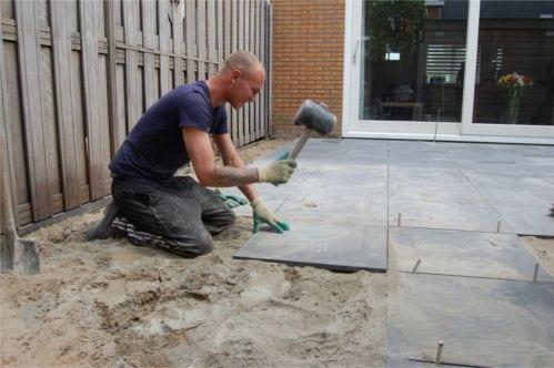 Tegels Leggen Tuin : Tegels voortuin bestrating with tegels voortuin tuin en terras
